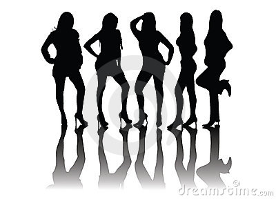 People silhouettes - models