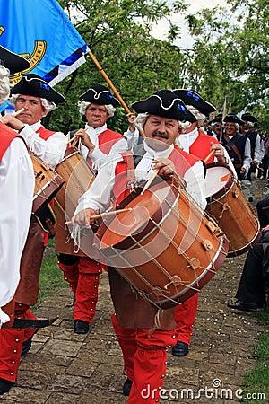 People singing in medieval costumes Editorial Image