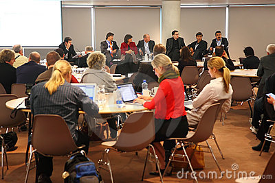 People sitting in meeting hall on CEPIC Congress Editorial Stock Photo