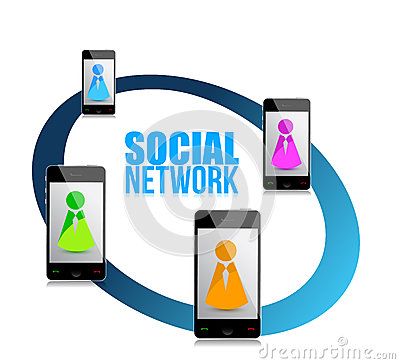 People on social network concept