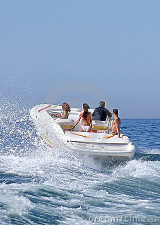 People in Speedboat