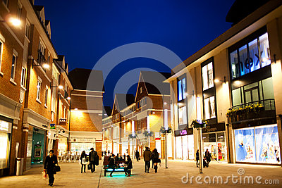 Shopping area during night Editorial Photography