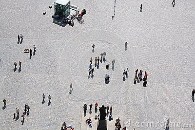 People on a square