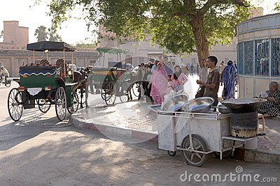 People and street vendor Editorial Stock Image