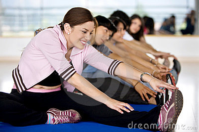 People stretching
