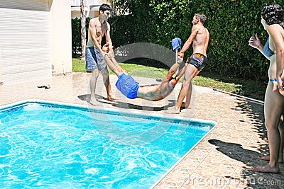 People at swimming pool