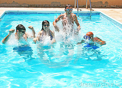 People in swimming pool