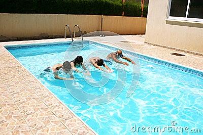 People in swimming pool