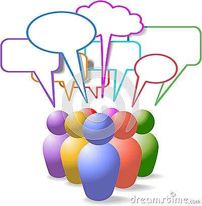 Free People Symbols Social Media Speech Bubbles Royalty Free Stock Image - 18229816