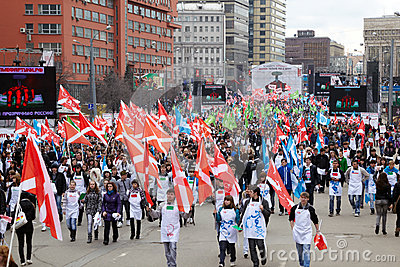 People take part in march Editorial Photo