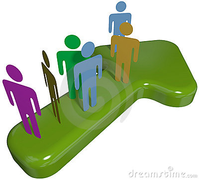 People team on 3D symbol arrow to progress success