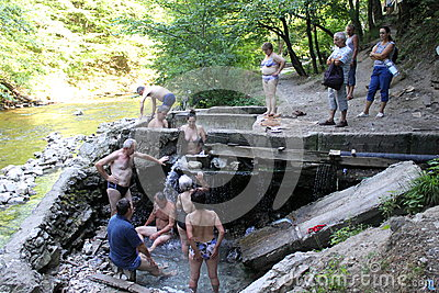 People in thermal water Editorial Stock Image