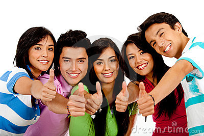 People with thumbs up