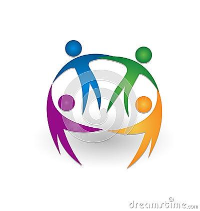 Free People Together Teamwork Logo Stock Image - 33770361