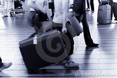 People traveling at  airport