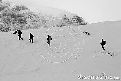 People treking