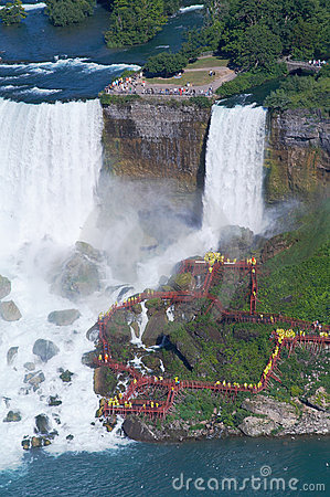 People under the Niagara Fall