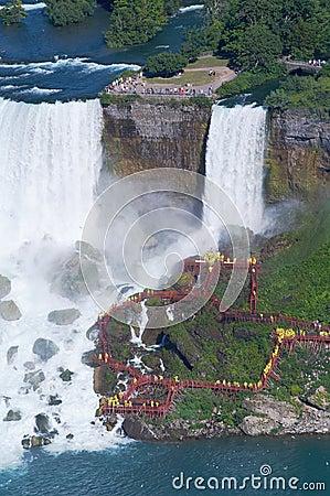 People under the Niagara Fall