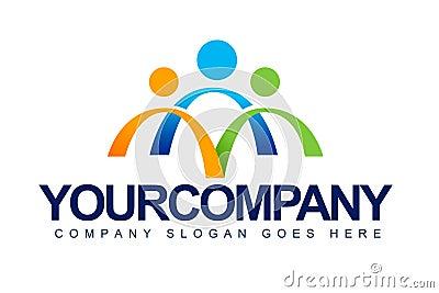 People Unite Concept Logo