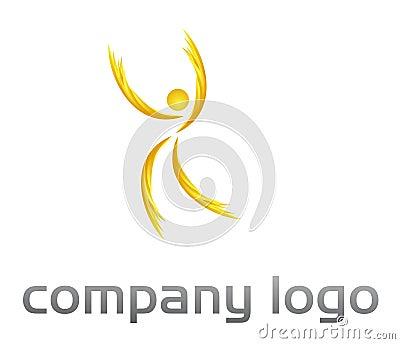People  vector logo - fire shape