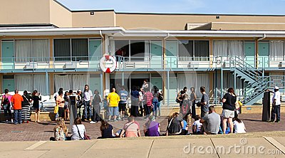 People visit the Lorraine Motel, Memphis Tennessee. Editorial Photo