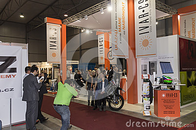 People visiting AquaTherm 2012 in Prague Editorial Photo