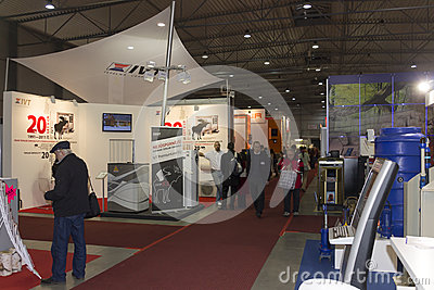 People visiting AquaTherm 2012 in Prague Editorial Photography