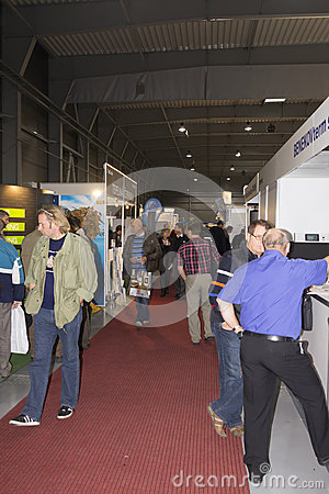 People visiting AquaTherm 2012 in Prague Editorial Image