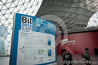 People visiting Bit 2014, international tourism exchange in Milan, Italy Editorial Photo
