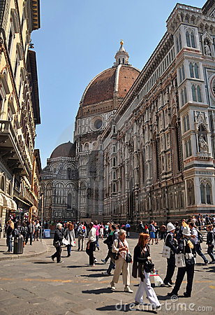People Visiting the Duomo Florence, Italy, Duomo Editorial Photo