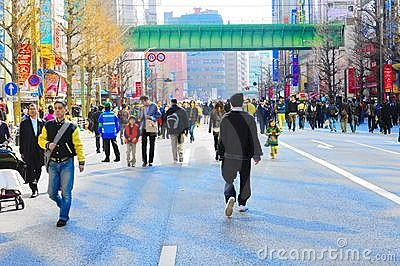 People walking freely on Akihabara , tokyo , japan Editorial Photo