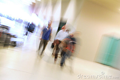 People walking indoor