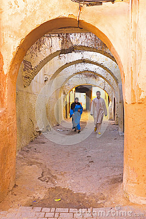 People walking in the medina in Fes Morocco Editorial Image