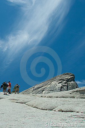 Free People Walking Up Half Dome Stock Photos - 18649283