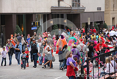 People watch Christmas parade Editorial Photography