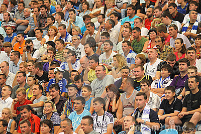 People watch the football game Editorial Stock Photo