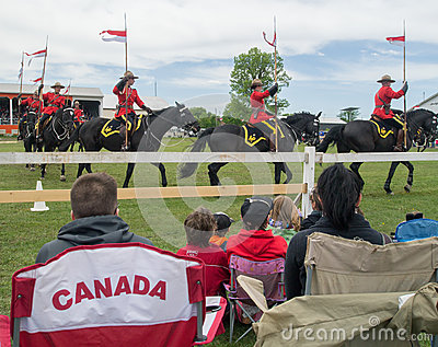 People watching RCMP Musical Ride Editorial Image