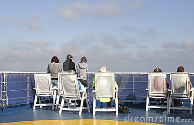 People watching the sea from the ferry Editorial Stock Photo