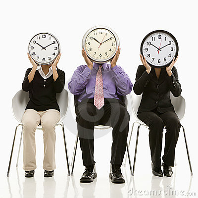 Free People With Clock Faces Stock Photography - 2047002
