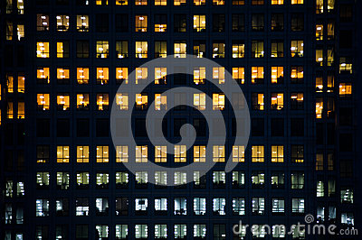 People working in a modern office building Editorial Image