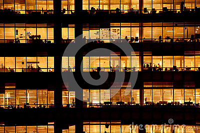 People working in a modern office building Editorial Photo