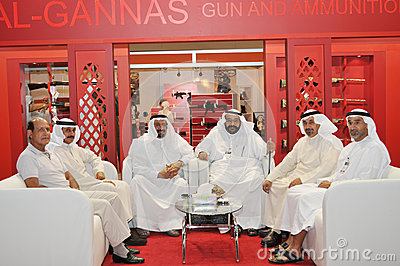 Peoples at Abu Dhabi International Hunting and Equestrian Exhibition (ADIHEX) Editorial Image