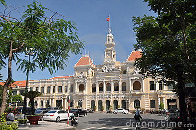 Peoples  Committee Building, Vietnam Editorial Stock Photo