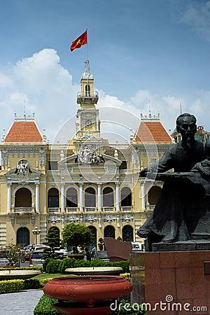 Peoples Committee Hall, Saigon Editorial Photography
