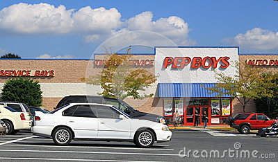Pep Boys Auto Services Editorial Stock Photo