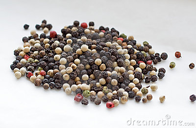 Pepper corn grains
