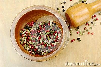 Pepper Corns in Mortar