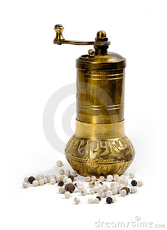 Pepper  grinder and  peppercorn