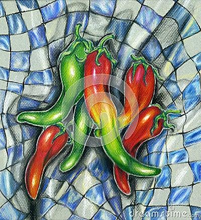 Pepper Picnic Illustration