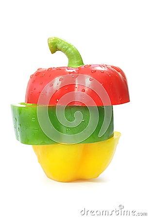 Pepper slices